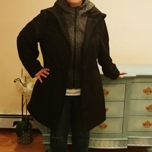 Nautica 2X Lightweight Coat Black with Gray Bib
